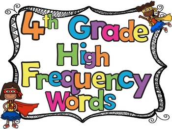 4th Grade High Frequency Sight Words Flash Cards and Stude