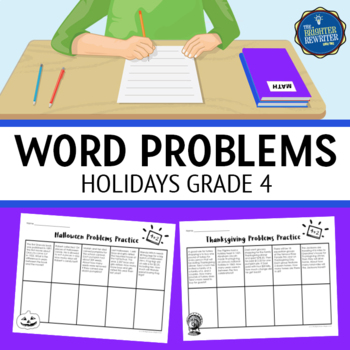 Word Problems 4th Grade Holidays