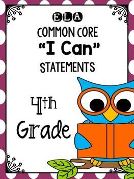 I Can Statements ELA Grade 4