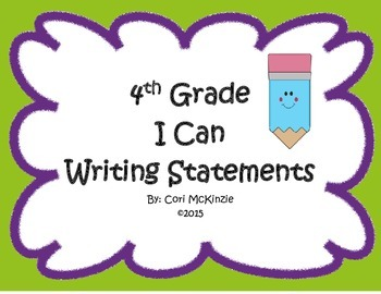 4th Grade I Can Writing Statements