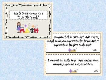 4th Grade I Can statements-Math