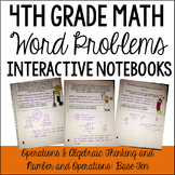 4th Grade Interactive Math Notebook: Word Problems {OA and NBT}