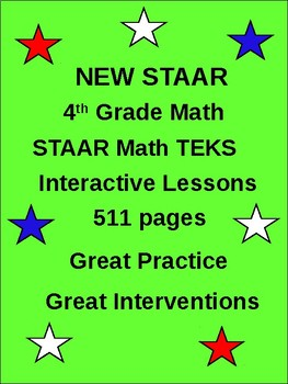 4th Grade STAAR Math: 511 Interventions pages New 2015-16 TEKS