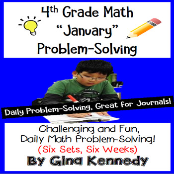 Daily Problem Solving for 4th Grade: January Word Problems
