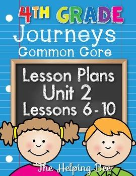 4th Fourth Grade CCSS Journeys LA Unit 2 Common Core 5 Wee