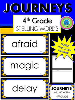 4th Grade Journeys Spelling Words~ Large Wall Cards~ All L