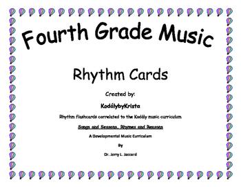 4th Grade Kodaly Music Rhythm Flashcards
