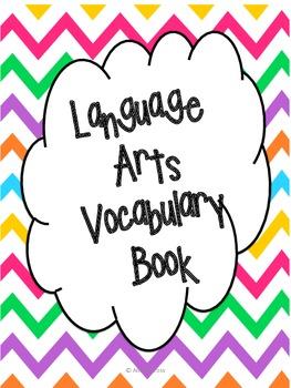 4th Grade Language Arts Test Prep Vocabulary Book