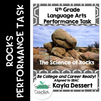 4th Grade Language Arts Performance Task- Rocks
