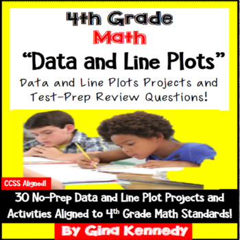 4th Grade Data & Line Plots, 30 Enrichment Projects and 30