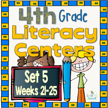 4th Grade Literacy Centers Set 5, {Aligned with Journeys by HMH}