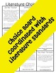 4th Grade Literature Choice Board with Graphic Aids- Task