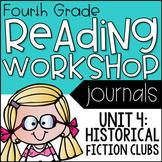 4th Grade Lucy Calkins Reading Workshop Journal, Unit 4