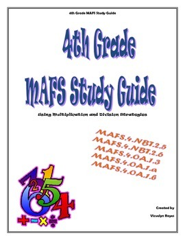 4th Grade MAFS Study Guide-  Multiplication and Division S