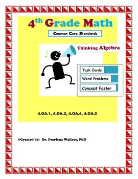 4th Grade Algebraic Thinking: Additive & Multiplicative Co
