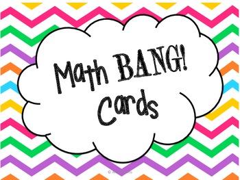 4th Grade Math BANG! Cards