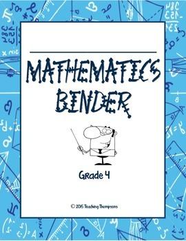 4th Grade Math Binder Organizer