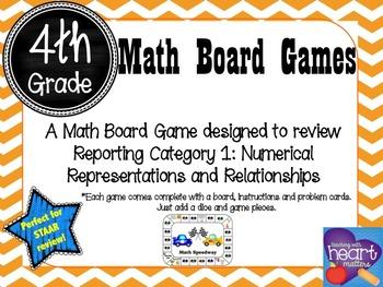 4th Grade Math Board Game- Math Speedway