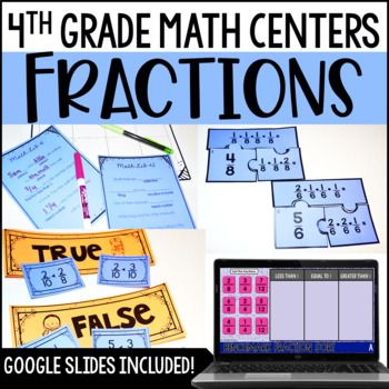 4th Grade Math Centers {Fractions}