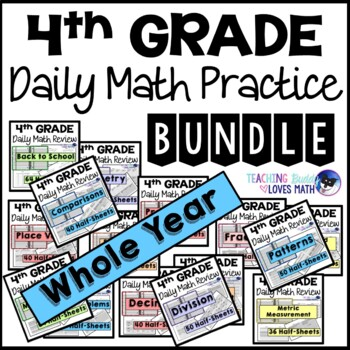 All Standards Math Centers or Daily Warm Ups 4th Grade Com