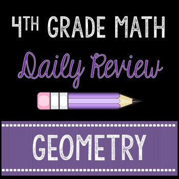 Daily Math Review Geometry 4th Grade Common Core