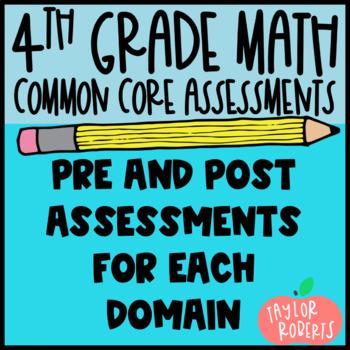 4th Grade Math Common Core Assessment Bundle & Data Tracki