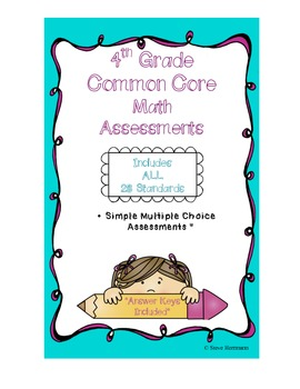4th Grade Math Common Core Assessments