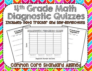 4th Grade Math Diagnostic Quizzes
