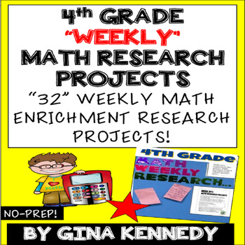 4th Grade Math Enrichment Weekly Research Projects For the