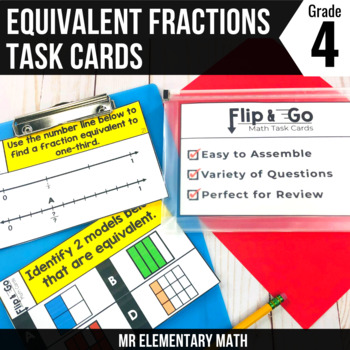 Equivalent Fractions - 4th Grade Math Flip & Go Cards