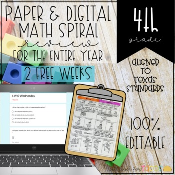 4th Grade Math Homework for a Month