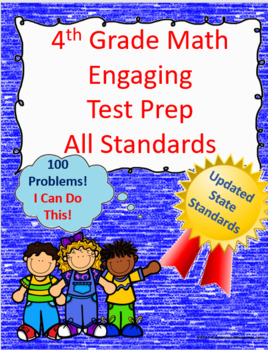 4th Grade Math Interactive Test Prep: All Standards, 100 Q