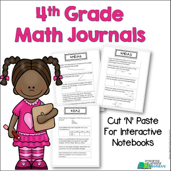 4th Grade Math Journals for Interactive Notebooks {Aligned