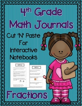 4th Grade Math Journals for Interactive Notebooks {CC Alig