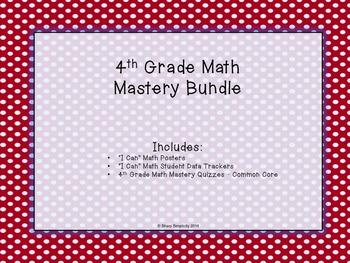 4th Grade Math Mastery - Bundle