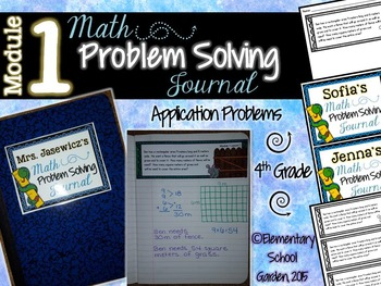 4th Grade Math Module 1 Application Problems - Problem of