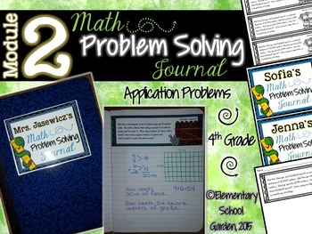 4th Grade Math Module 2 Application Problems - Problem of