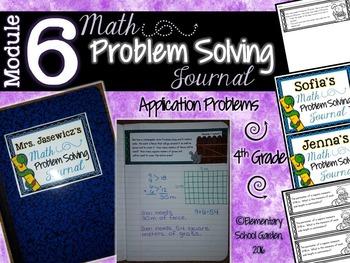 4th Grade Math Module 6 Application Problems - Problem of