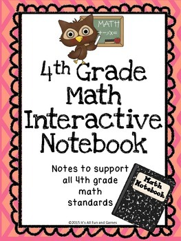 4th Grade MATH Interactive Notebook - Note Pages for the E