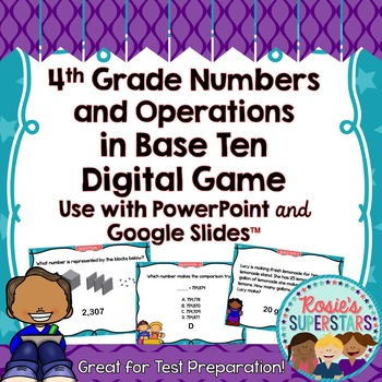 4th Grade Math Numbers and Operations in Base Ten Test Pre