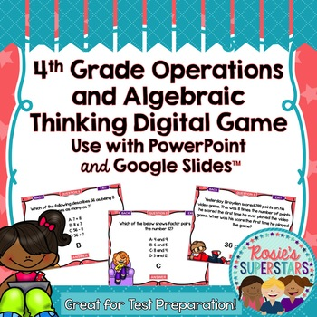 4th Grade Math Operations and Algebraic Thinking Test Prep