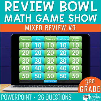 4th Grade Math Game - Beginning of Year #3