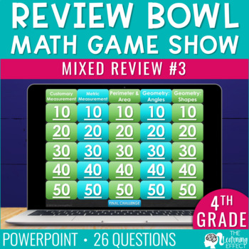 4th Grade Math Game - End of Year #3