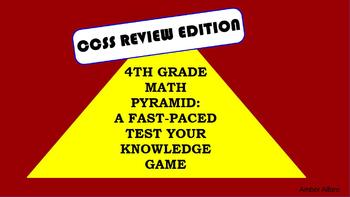 4th Grade Math Pyramid Promethean Game ~ CCSS Vocabulary ~