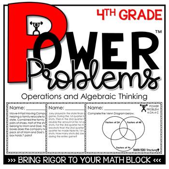 4th Grade Math Rigorous Word Problems Operations & Algebra