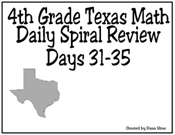 4th Grade Math Spiral Review Days 31-35
