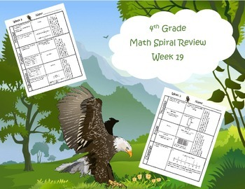 4th Grade Math Spiral Review Free Sample (Common Core alig