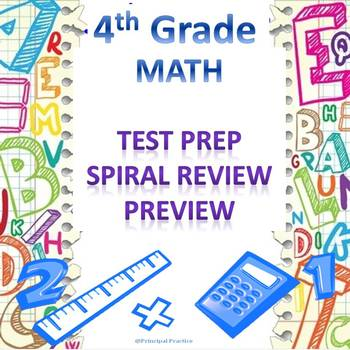 4th Grade Math Spiral Review Preview