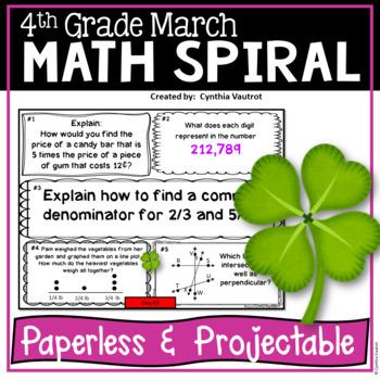 March Daily Math Spiral!