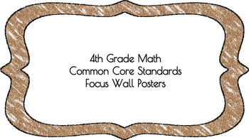 4th Grade Math Standards on Brown Colored Frame
